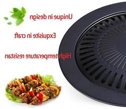 Healthy Smokeless Stovetop Grill Non-stick Roasting Pan Outd