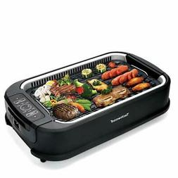 indoor and outdoor smokeless grill with smoke