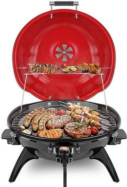 Techwood Indoor/Outdoor Electric BBQ Grill-Adjustable Temper