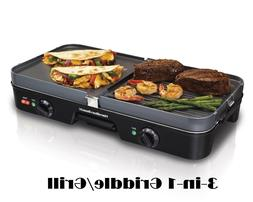 Indoor Electric Grill BBQ Griddle Smokeless Countertop Nonst