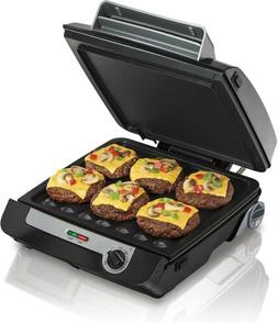 Hamilton Beach Indoor Grill & Electric Griddle Combo with Ba
