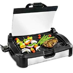 indoor grill griddle smokeless bbq portable electric