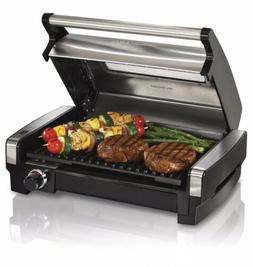 Indoor Smokeless Electric Grill, Healthy Home Kitchen Chef,