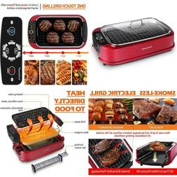 Techwood Indoor Smokeless Grill, 1500W Electric BBQ Grill an