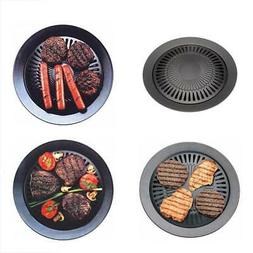 Kitchen 13 Inch Smokeless Stovetop Barbecue Grill Non-Stick