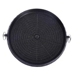 Fityle Korean Round Alloy Barbecue BBQ Grill Plate Pan For C