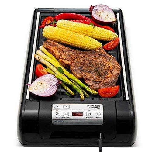 1 Electric Smokeless and Pan Indoor BBQ Your kitchen Temperature Control - Cooking Timer – Built for Smokeless Grilling