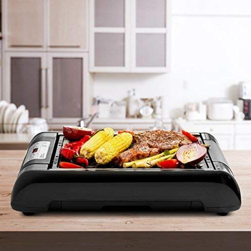 Magic Mill 2 1 and Griddle Indoor kitchen – Digital Control - Timer – Built in Fan