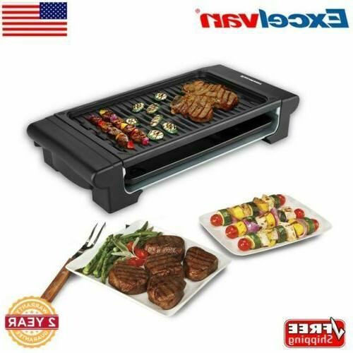 1120w electric grill indoor barbecue smokeless non