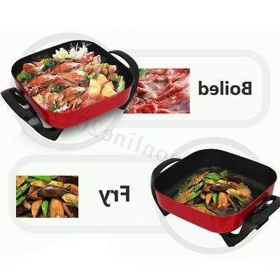 1800W 220V Multifunction Non-Stick Fry Cooking