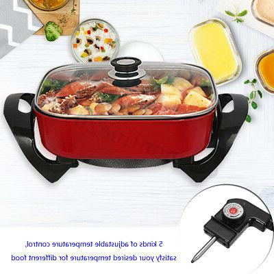 1800W Non-Stick Grill Fry Cooking Hot