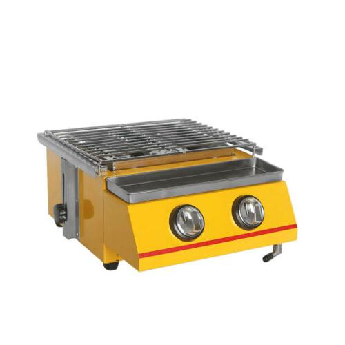 Gas Barbecue Grill Griddle Table