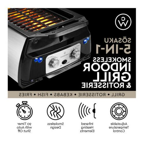 ChefWave Smokeless Grill & Rotisserie