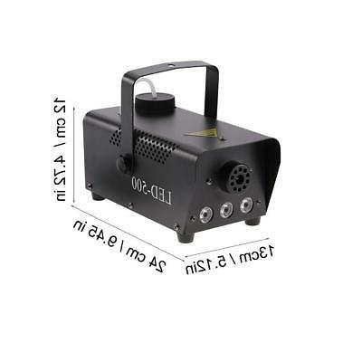500W Fog Smoke Machine Color Stage Remote Control
