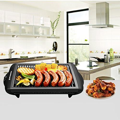 Electric Smokeless Surface Contact Removable 1120W, Black