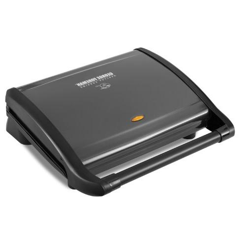 George Foreman GRV120GM 8-Serving Classic Plate Grill, Gun M