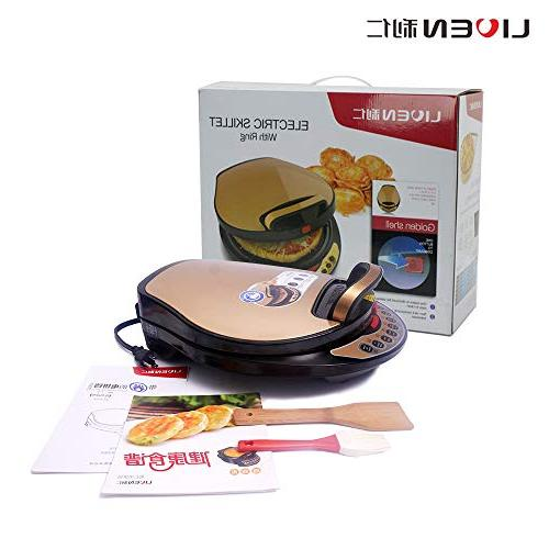 Liven A434 180 Skillet, Washable Pan 1300W, and Gold