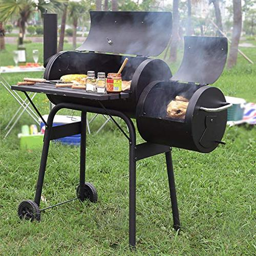 BBQ Grill Charcoal Barbecue Outdoor Pit Patio Home Meat Process Paint Black