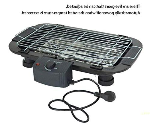 TabEnter BBQ Grill, Can with Charcoal, Use Electricity, Home Barbecue Tray, 3