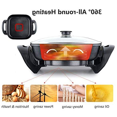 Best Quality & Stock 220V Multifunction Electric Non-Stick Grill Smokeless Fry Cooking Hot Pot Durability Adjustable - 1