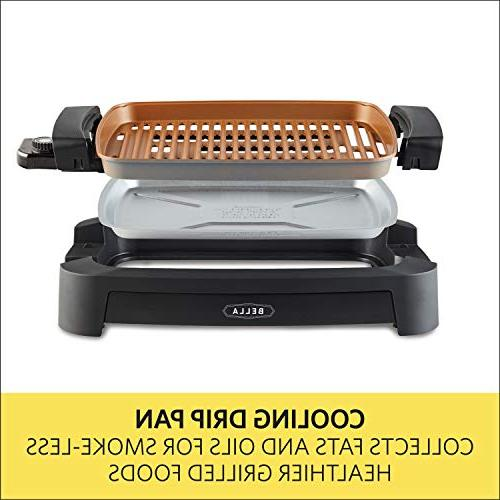 BELLA x Inch Titanium Coated Grill & with Copper Cooking