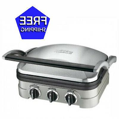 cuisinart stainless steel smokeless multi functional grill