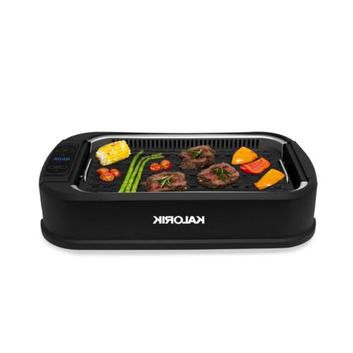 DeLonghi W/ Lid Stainles Smokeless Indoor Griddle