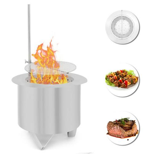 double fire pit patio burner bbq grill