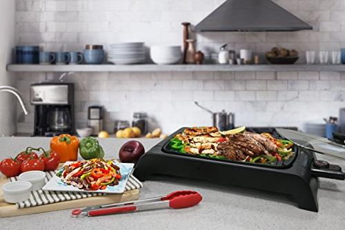 "Elite Platinum EGL-6501 Indoor Electric Grilling Surface, Faster Heat Up, Ideal For Fish, Vegetables & Meals, Easy To Design, 16"" x"