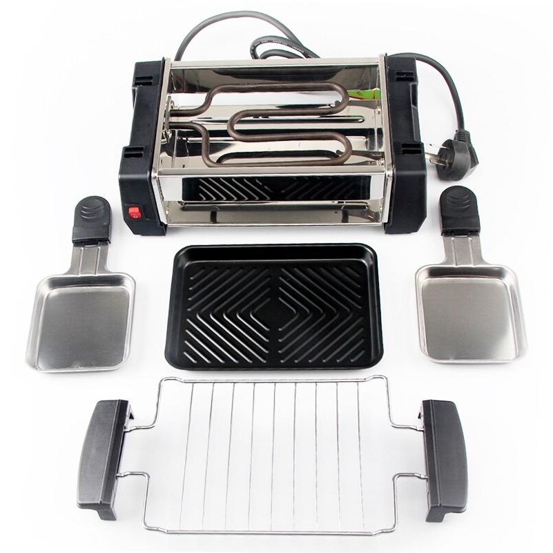 Electric BBQ <font><b>Grill</b></font> Travel Raclette for 2-4 Person Electric <font><b>Griddle</b></font> 220V