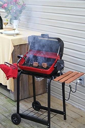 Grill with two composite-wood and wire