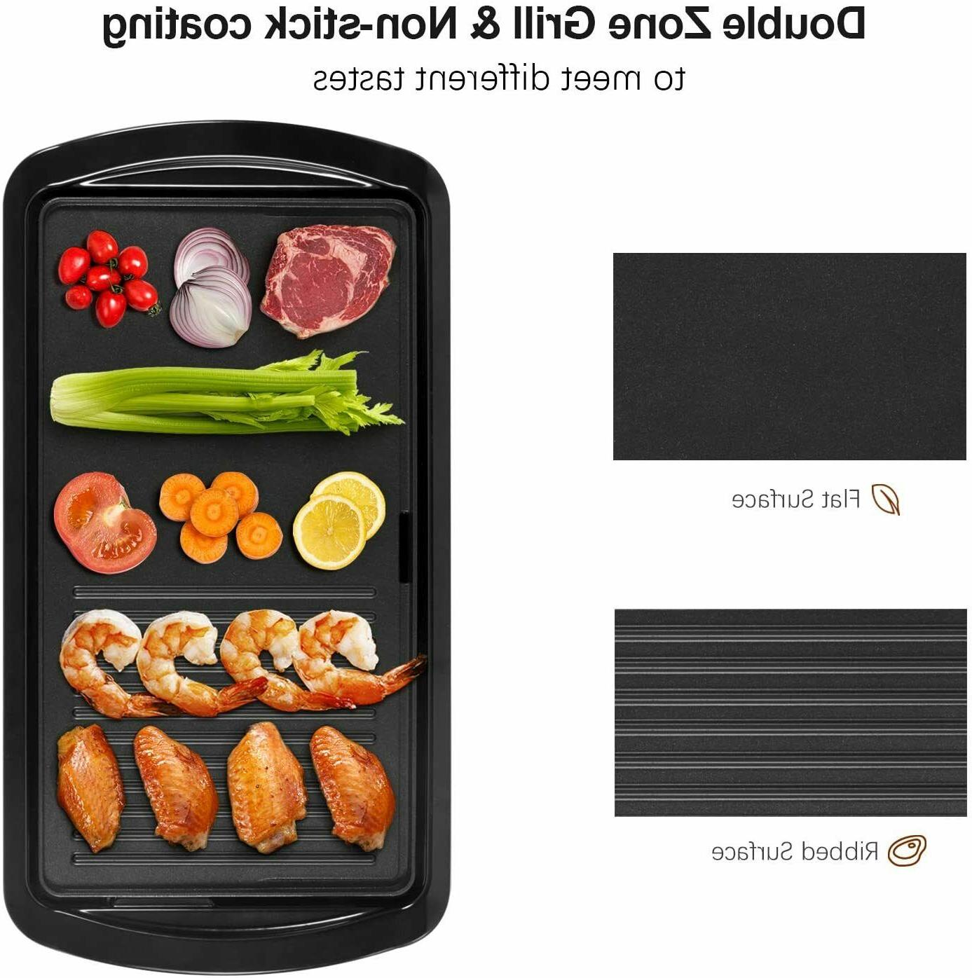 Electric 2-in-1 Indoor Grill Pancake Griddle
