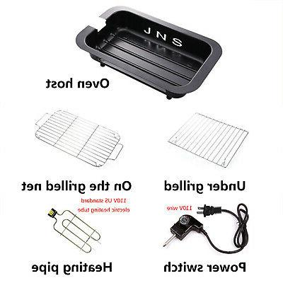 Electric Grill Pan Non Smokeless Cooking Indoor