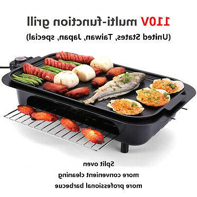 Electric Grill Pan Non Stick Barbecue Smokeless Cooking Indoor