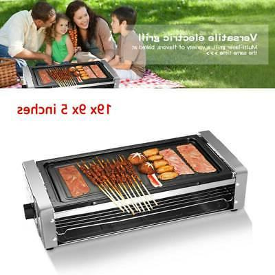 electric grill outdoor and indoor smokeless easy
