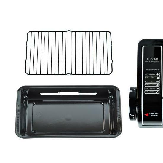 NutriChef Electric Grill Roaster Indoor Barbecue, Fish,