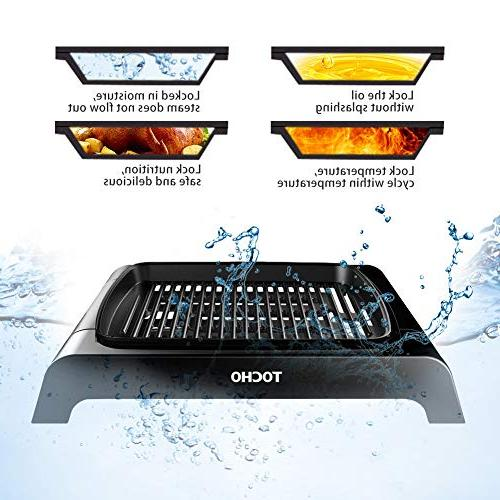 Electric Indoor Grill, Smokeless Table Grill, Grilling Surface, Clean Grill, Party/Home, Ideal For Fish, Meals ETL Certified
