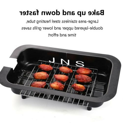 110V Electric Smokeless Non Cooking BBQ Griddle outdoor~USA