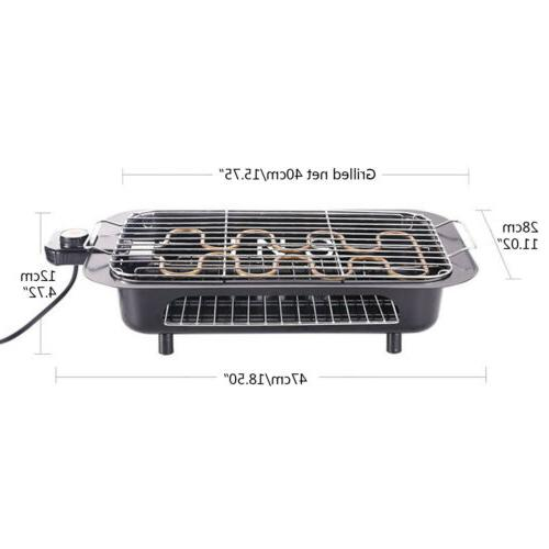Electric Grill Non-Stick Cooking BBQ Indoor outdoor