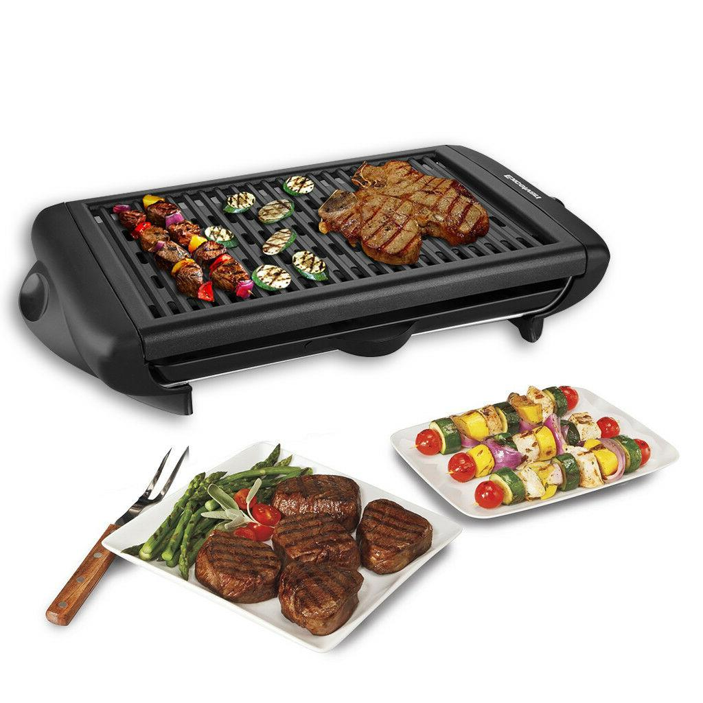 electric non stick barbecue grill griddle indoor