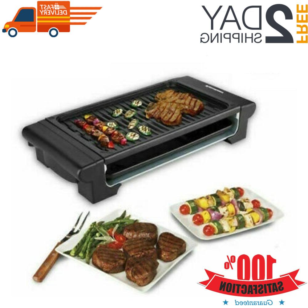 electric non stick table top grill griddle