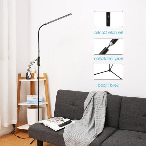 Adjustable LED Floor Lamp 10W Remote Dimmable Light Desk Table