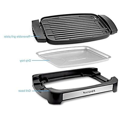 Magicook Electric Reversible Grill Griddle Removable
