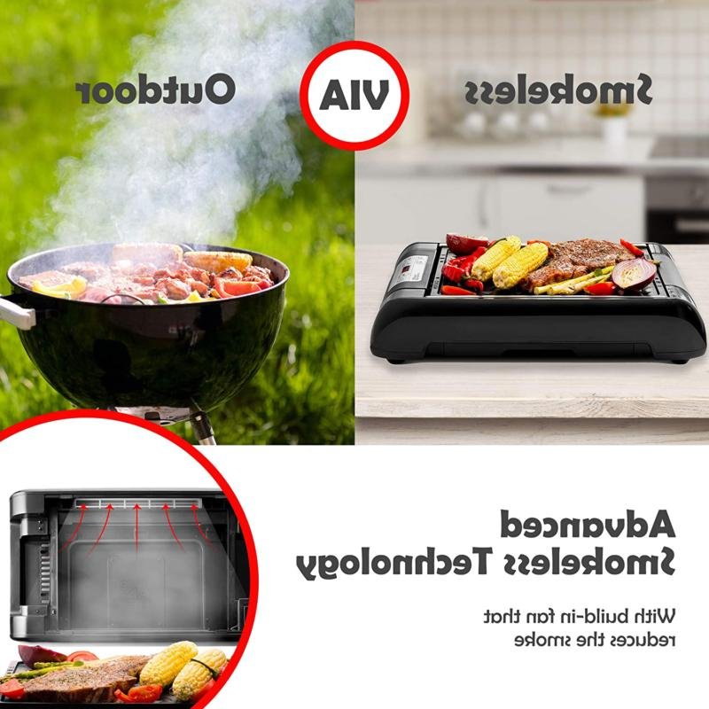 Magic-Mill Electric Smokeless and Temperature Control