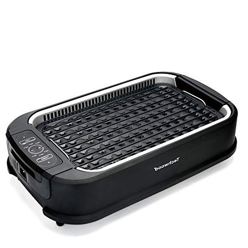 Techwood Grill, Indoor/Outdoor Power BBQ Grill with Smoke Adjustable Control