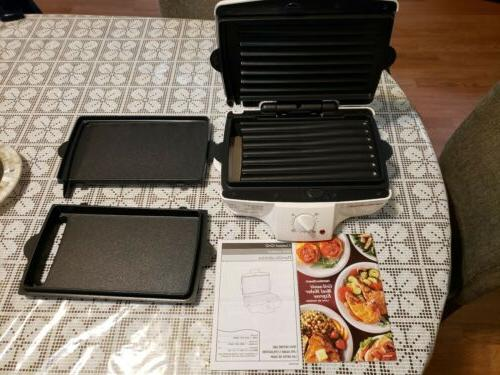 electric smokeless indoor grill and griddle combo