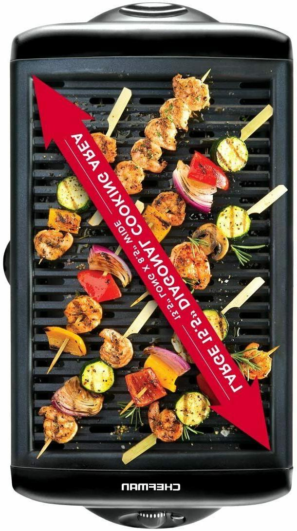 ELECTRIC SMOKELESS INDOOR GRIDDLE NON-STICK SURFACE BBQ,