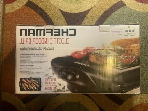 Chefman Electric Smokeless Indoor Grill - w/Non-Stick Cooking