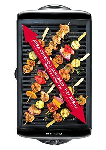 Grill Non-Stick Cooking Surface Adjustable Knob Warm Sear Customized Removable Drip Tray,