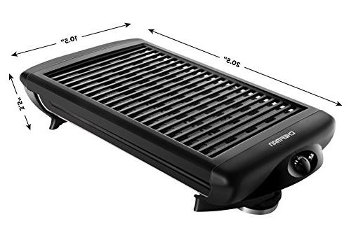 Chefman Electric Grill - Non-Stick Adjustable Temperature Warm Customized Dishwasher Removable